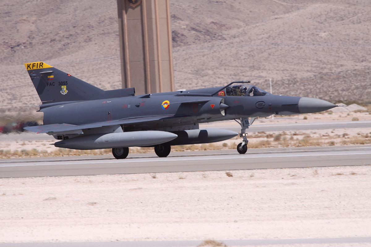 Colombian Air Force Kfir landing at Nellis