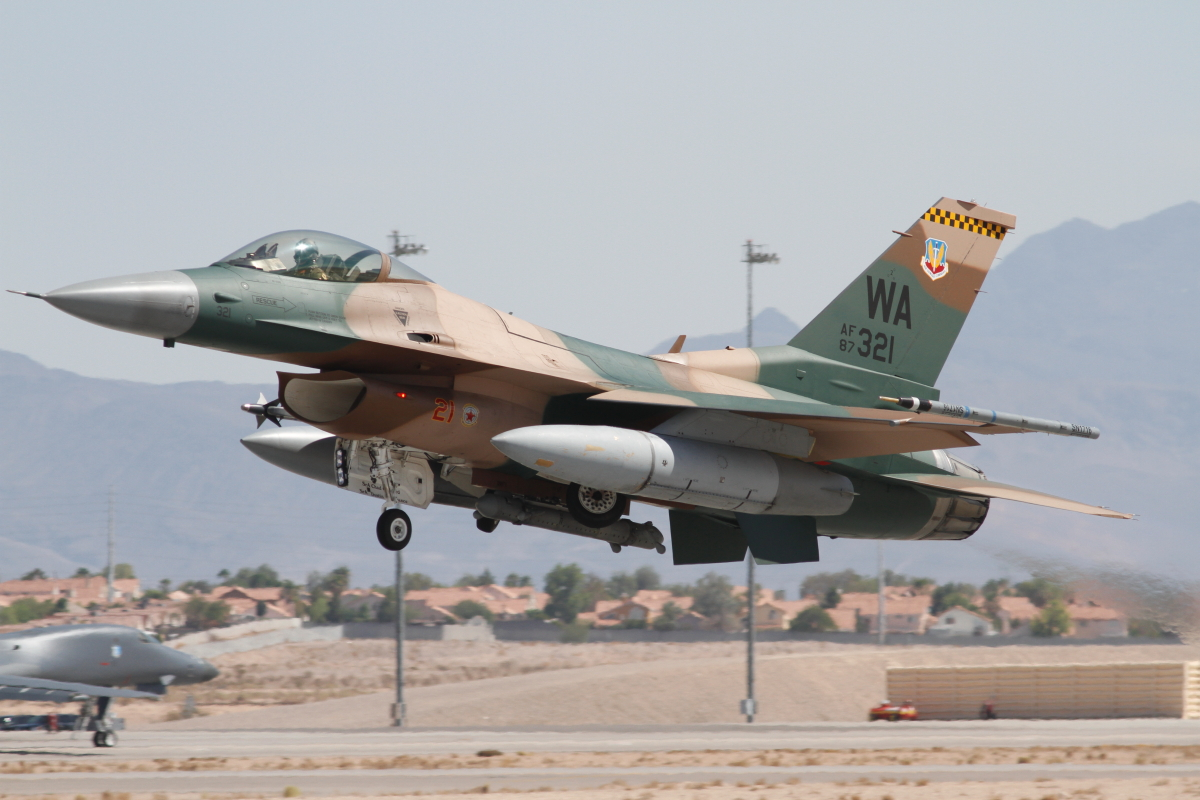 F-16C of 64th Aggressor squadron Nellis AFB