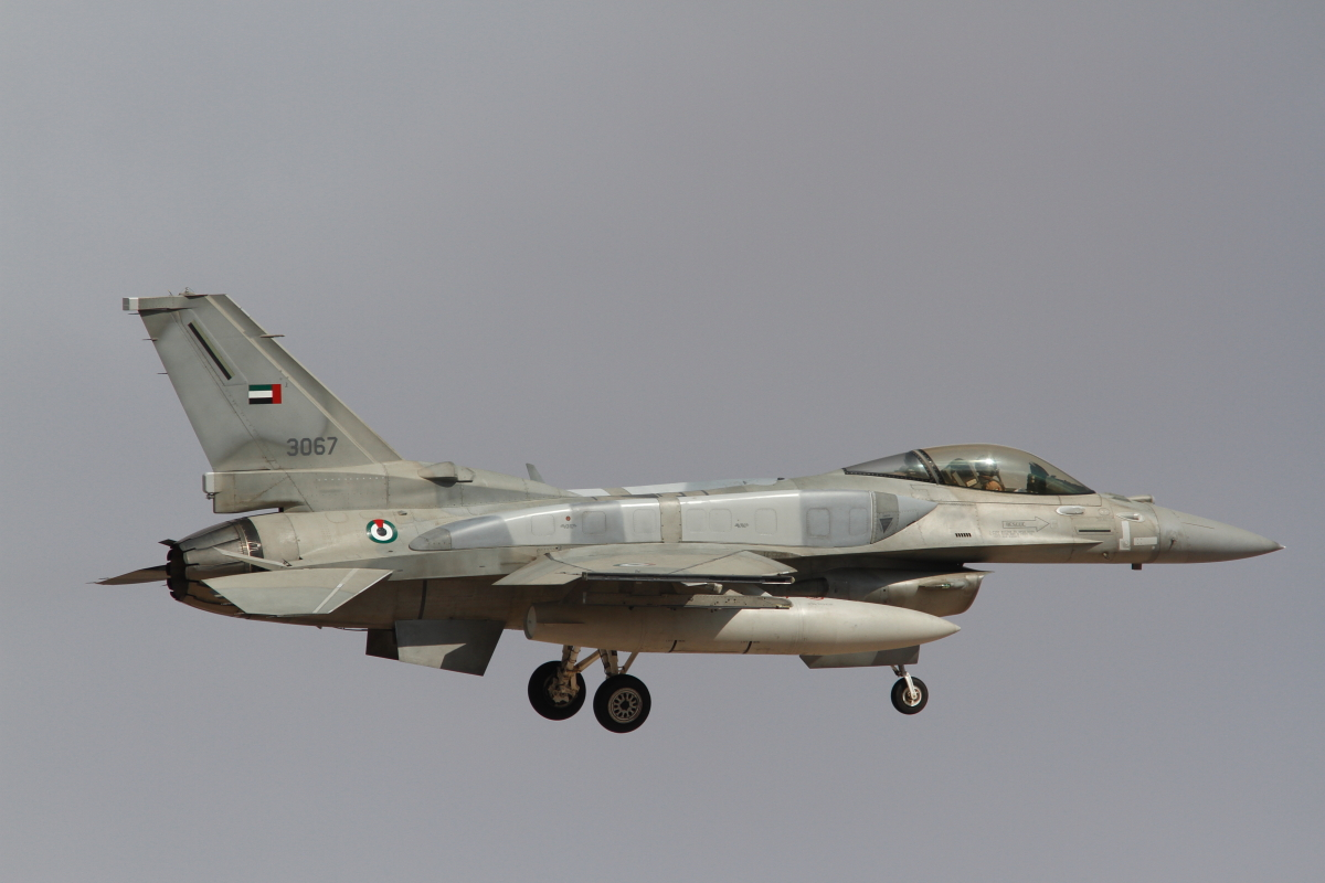 UAE F-16E at Nellis